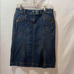 Loft Denim Skirt Size 0